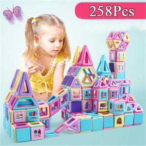 Большой размер Магнитный конструктор конструкторский набор модель здания игрушка магниты магнитные блоки развивающие игрушки для детей