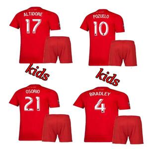 2019 2020 Kit infantil de Toronto FC Camisetas de fútbol OSORIO POZUELO BRADLEY ALTIDORE 19 20 Toronto Home boy niño Camiseta de fútbol