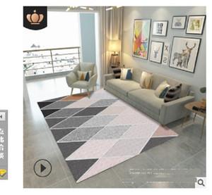 2020 горячей продажи ковер гостиной журнальный столик имитация шерстяной ковер Спальня супер мягкий, модно и просто. Геометрический DT04