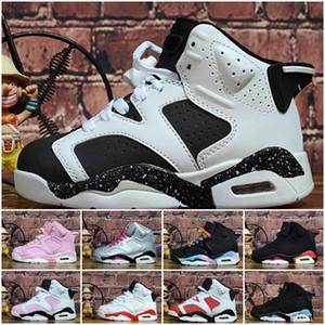 Crianças 4 6 tênis de basquete New atacado 1 space jam J4 J6 6s Sapatilhas esportes dos miúdos Menina Running sapatos menino formadores J6 28-35