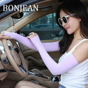 BONJEAN Sonnenschutz Sport-Arm-Accessoires 2019 Summer White Arm Sleeves für Frauen dünne Kühl Warmers BJ974