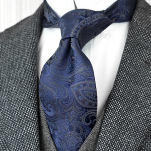 F21 Atacado Paisley azuis marinhos Multicolor laços dos homens gravatas 100% seda tecido jacquard Suit presente para homens Acceossories atraentes