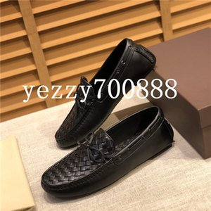 Summer 2020 new high-quality luxury men's casual shoes, woven craft peas shoes, loafers a pedal Fashion casual wild fdzhlzj