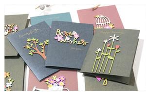 Новый творческие ретро Пригласительный билет Трехмерных вырезаны карты рождения Двойного птица клетки поздравление открытка