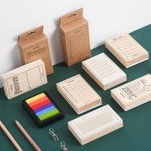 20190623 Selo De Madeira Grande Tamanho Manual Função Série Criativa Base Manual Prático DIY Decorativa Impressão