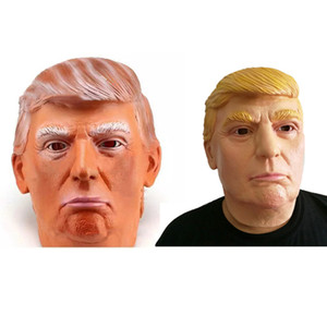 Donald Trump Mask Billionaire Costume presidenziale Latex Cospaly Mask Il Presidente USA Trump Mask per Celebrity Spoof Props