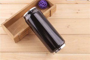 8 couleurs !! 500ML Cola Can Bouteille D'eau Tasses En Acier Inoxydable Extérieur Aspirateur Isolé Tasse Tasse Sith Couvercles De Paille