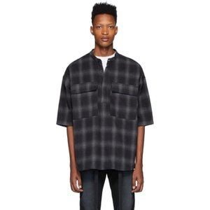 hot new FEARGOD 6th TARTAN PATTERN SHIRT Lattice Shirt FOG Fashion Long Sleeve Men Women Couple Casual Shirts Highstreet