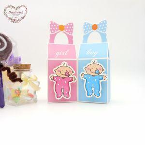 Dualswish 48pcs BoyGirl Baby Shower bambini di favore di carta Confezioni Regalo di compleanno decorazioni del partito bambini dolci di compleanno Party Bag Evento
