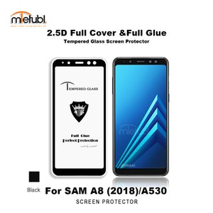colla completa Vetro temprato Protector per Samsung A8 2018 / A530F 9H durezza anti-scrath, carta di imballaggio, di fabbrica basso prezzo all'ingrosso