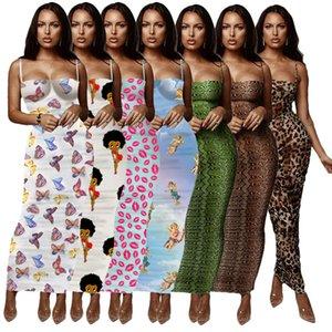 Delle Donne Del Progettista di Modo Del Vestito di Estate Gonna Lunga Nuovo Arrivo Aderente Sexy Club Wrap bretella Sling Dress Hot