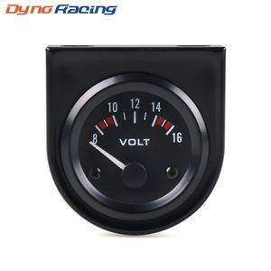 "Voltmetro 2 ""52mm Universale 8-16 Volt metro Bianco Led volt gauge Auto metro Racing meter"