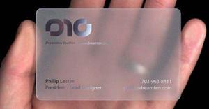 تخصيص الطباعة واضح البلاستيك pvc بطاقة عمل شفافة