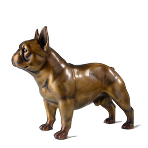 French Bulldog Statues Figurines Animal Dog Art Sculpture Bronze Art&Craft Home Decoration Accessories For Living Room R539