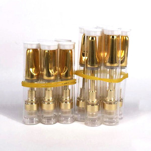 10шт .5 мл 1 мл 510 резьба стеклокерамическая катушка TH205 TH210 vape картридж с золотым керамическим наконечником для Толстого вязкого масла CO2