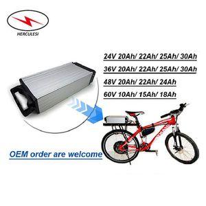Ucuz Fiyat Arka Elektrikli bisiklet 1000W Moto için Ebike Elektrikli Bisiklet Akü 48V 20AH Lityum İyon Pil Paketi 48v Pil Raf