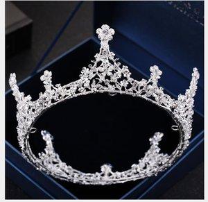 مجوهرات حلقة كاملة الزواج Headcrown Round Crown Photo Studio Baitie زفاف ملابس تشكيل شعر حلية