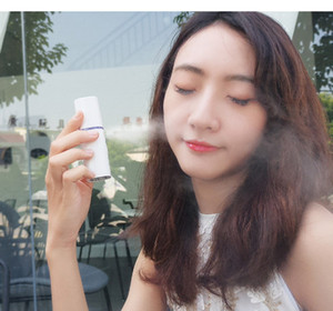 Portable Small Humidifier USB Rechargable Handheld Water Meter Charging Mini Steamed Face Humidifier With Without Mirror Handheld Nano Cold