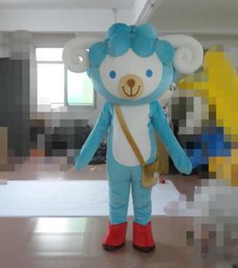 2019Sky blue sheep Костюмы талисмана Анимированная тема ягненка Cospaly Мультфильм талисман Персонаж Хэллоуин Карнавальный костюм