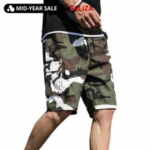 FALIZA 2020 Sommer-Männer Camouflage Cargo-Shorts Cotton Camouflage Mens beiläufige Kurzschlüsse lose Arbeits Short Plus Size 7XL PD05