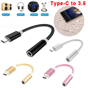 USB C 3.1 Type C to 3.5mm Headphone Extender Jack Aux Adapter Cable Audio Cable For Mobile Phone 20A20