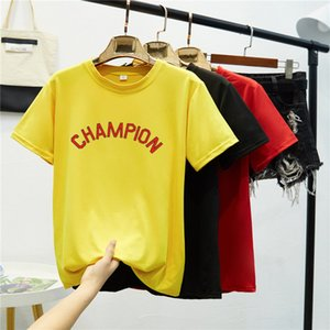 Cem Up Impressão Carta Xia Collar manga curta Feminino T T-shirt Jacket amantes