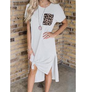 2020 Nouvelle arrivée Robes d'été Femmes Mode lambrissé Femmes Casual Streetwear Robes Tops femme de vacances T-shirt Robe
