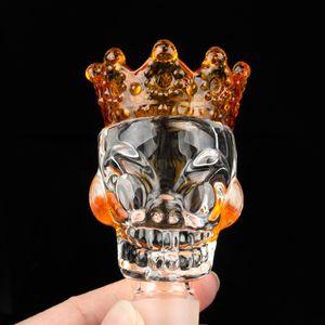 crâne coloré style verre bols bol 14mm Homme épais Big Bowl Piece pour le verre d'eau Bongs
