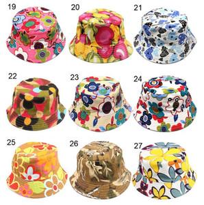 Девушки Цветочные Sun Шляпы дети Дети цветочные шапки новорожденных девочек мода Grass Fisherman соломенной шляпе 30 цветов