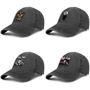 Discografía inadaptados para los hombres y las mujeres del dril de algodón del béisbol del golf sombrero de diseño fresco classicdesign su propio trendycustom equipada sombreros MISFITS arte