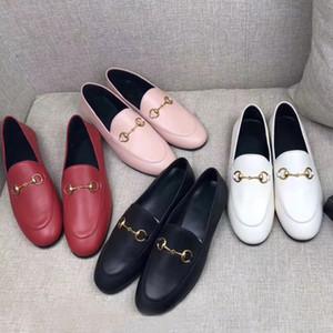 Дизайнер леди платье обувь 100% кожа Металлической пряжки роскоши плоские женщины повседневная обувь Алфавит бархат мужчины Классической Ленивая обувь лодки размер 34-42-45