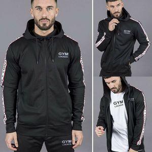 Kış Moda Erkekler Sıcak Spor Kapşonlu eskitmek Zip Ceket Hırka Ceket Hoodie