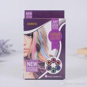 Hot Huez 6 PACK New Infinite Cosmtic Charm Hot Huez Colorful Hair Cream Com Just Pressslide &Color Hair Coloring Artifact 6 Chalk Compacts