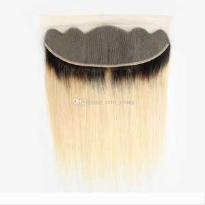 Ombre Brazilian Straight Human Hair 1b 613 Blond Lace Frontal 13x4 Free Part 10-20 Inch Remy Hair Free Shipping