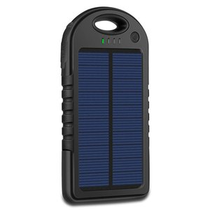 Carregador solar portátil 5000mAh carregador solar USB Banco Power Panel bateria lanterna para MP3 MP4 PDA Cell Phone