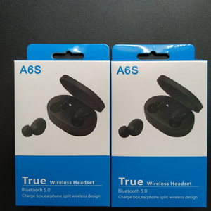 Newest TWS A6S Headphone Bluetooth 5.0 True Wireless Headset Hi-Fi Earphone with Mic for iPhone Xiaomi Huawei Samsung Smart Phones