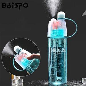 BAISPO 400ML / 600ML criativa spray Sports garrafa de água portátil Leak Garrafa prova para garrafa de água Outdoor Sports Gym Caminhadas