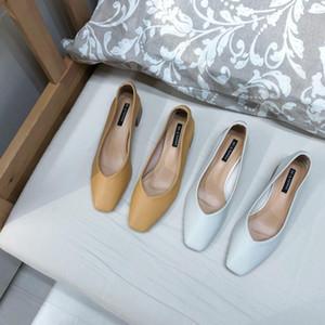 Venta caliente-Goddess2019 cuadrado grueso conciso con abuela suela blanda de un solo pedal zapatos de mujer