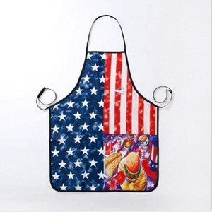 Fashion Polyester Apron Kitchen Cooking The United States Apron National Flag Pattern ForWomen Men Gift 74*56cm