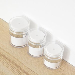 15 30 50g Pearl White Acrylic Airless Jar Round Cosmetic Cream Jar Pump Cosmetic Packaging Bottle LX1440