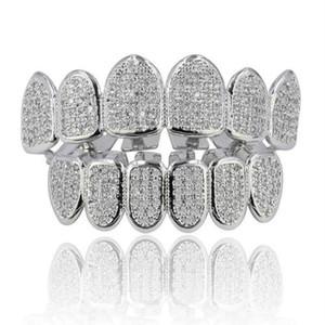 Diamant Zahnspangen Vampir Zähne Hip Hop Persönlichkeit Fangs Zähne Gold Silber Zähne Frauen Mensch Dental Grills Schmuck