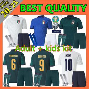 2019 maillots de football Coupe d'Europe Italie 19 20 CHIELLINI EL Shaarawy BONUCCI INSIGNE BERNARDESCHI Immobile football chemises enfants hommes chaussette kit