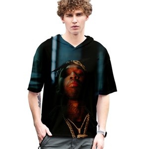 Hombre del diseñador camisetas del estallido de humo con capucha de manga corta de verano Tops ocasional más tamaño de mujeres de diseño T Shirts