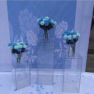 Sparkly chiaro vaso di stand acrilico bouquet di fiori si distingue strada visualizzazione navata mestiere centrotavola matrimonio Finestra porta fiori di nozze fondali