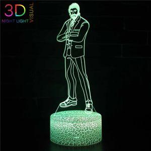ZOEY Fortezza Night Lights Changeable tattile USB Lampada 3D per visualizzazione Bulbing lampen Room Decor vacanze Luce per bambini