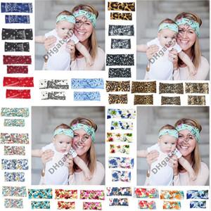 Stirnbänder Mami und Baby passende Baumwolle Bogen Stirnbänder Foto Prop Geschenk für Erwachsene und Baby Kaninchen Ohren elastische Tuch Bowknot Zubehör