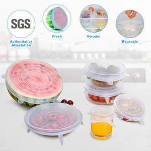6PCS Set Universal Silicone Suction Lid-bowl Pan Cooking Pot Lid-silicon Stretch Lids Silicone Fruit Cover Pan Spill Lid Stopper Cover