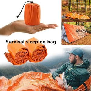 Outdoor Vida Bivy emergência Sleeping Bag Mantenha térmica quente impermeável Mylar First Aid Blanke Emergência Camping Survival engrenagem