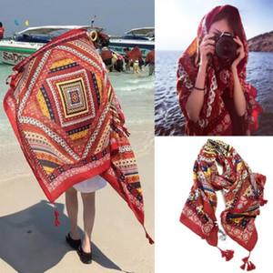 أزياء البوهيمي الوطنية نسيج الجدار شنقا شاطئ حصيرة اليوغا ديكور بوهو شالات الأغطية