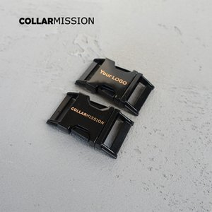 10pcs / lot inciso fibbia, Forniamo laser servizio di incisione per il cliente di MARCHIO 25 millimetri di metallo nero fibbia CK25H